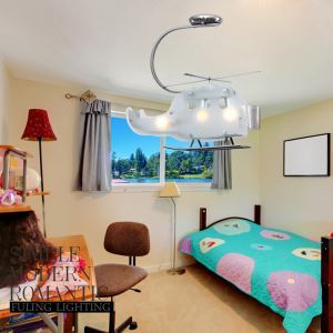 Modern Fashion Cartoon LED Creative Helicopter Flush Mount Ceiling Light 3 Lights Energy Saving
