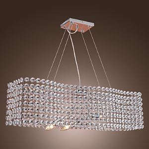 Stylish Crystal Chandelier with 3 lights   ( Electrochromism Finish  )