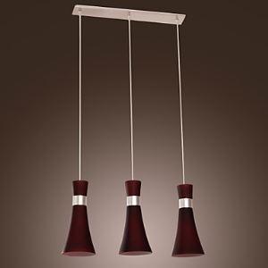 Stainless Steel 3-Light Pendant Light Streamline Designed   ( Purple  )