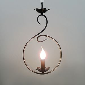 Artistic Pendant Light with 1 Light in Candle Bulb