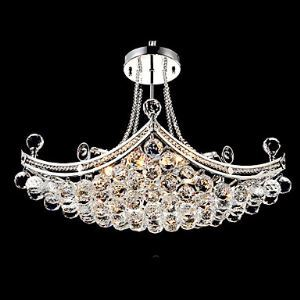 Modern Luxury Delicate 6 Light Pendant With Crystal Balls