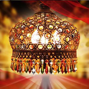Exquisite Handmade Bohemian Style Art Crystal Antique Brass Chandeliers