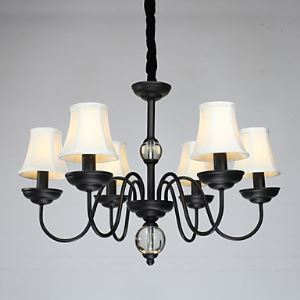 American Pendant Lamp Six Lights Steel and Fabric   ( 8015-6  )