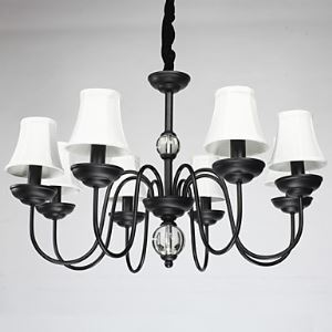 American Pendant Lamp Eight Lights Steel and Fabric   ( 8015-8  )