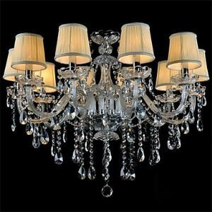 Modern Crystal Chandelier with 10 Lights