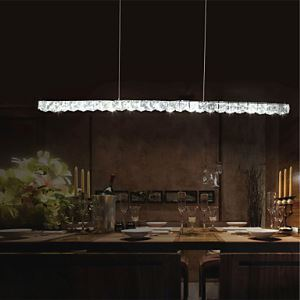 Pendant Lights Crystal LED Modern Contemporary Bedroom Dining Room Lighting Ideas Study Room Office Metal Energy Saving
