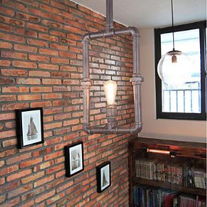 Loft Pendant Lights  Industrial Pipe Light  Rustic  Lodge  Vintage  Retro  CountryLiving Room  Dining Room Lighting Ideas  Entry  Game
