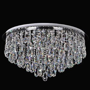 Crystal Ceiling Light LED Modern Contemporary Living Room Dining Room Crystal Metal Controllor included White+Warm White Energy Saving