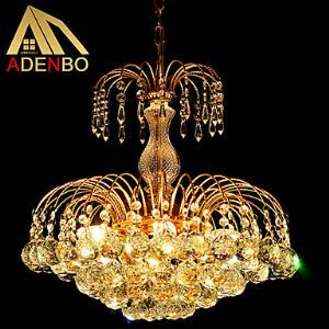 Modern LED Crystal Pendant Light 45cm With K9 Crystal Balls For Dining Room Lighting Ideas Bedroom Lighting Energy Saving