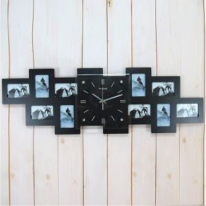 Modern Simple Glass Frame Creative Mute Wall Clock Non-ticking