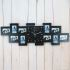 Show details for Modern Simple Glass Frame Creative Mute Wall Clock Non-ticking