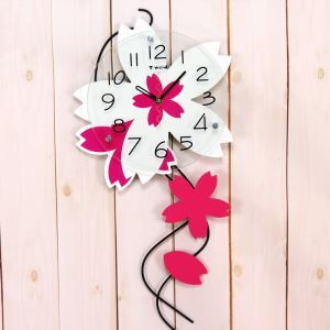 Modern Pastoral Style Wrought Iron Flower Mute Wall Clock