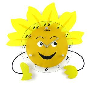 Modern Simple Wrought Iron Cartoon Mute Kid Wall Clock