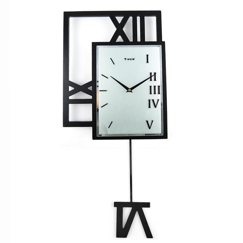 home decor decorative clocks modern wall clock contemporary simple wooden black pendulum. Black Bedroom Furniture Sets. Home Design Ideas