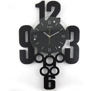 Contemporary Simple Glass Digital Wall Clock Non-ticking