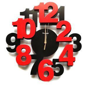 Modern Simple Wooden Digital Mute Wall Clock