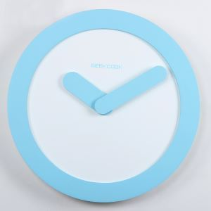 Modern Simple Fiberboard Mute Wall Clock Round