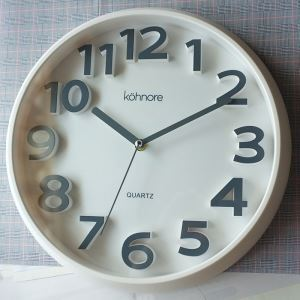 Modern Simple Plastic Round Mute Non-ticking Wall Clock