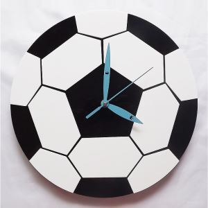 Modern Fashion Creative Acrylic Football Mute Wall Clock