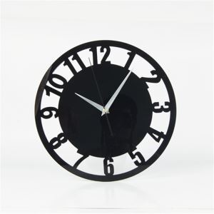 Fashion Creative Acrylic Digital Round Mute Wall Clock