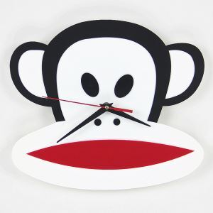 Creative Cartoon Acrylic Paul Frank Mute Wall Clock