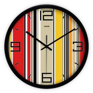 Fashion Metal Colorful Abstract Round Mute Wall Clock Artistic