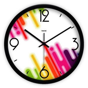 Modern Fashion Simple Metal Abstract Bias Strip Round Mute Wall Clock