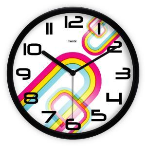 Aritistic Simple Metal Abstract Colorful Round Mute Wall Clock