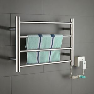 40W Stainless Steel Polished Wall Mount Circular Tube Towel Drying Rack