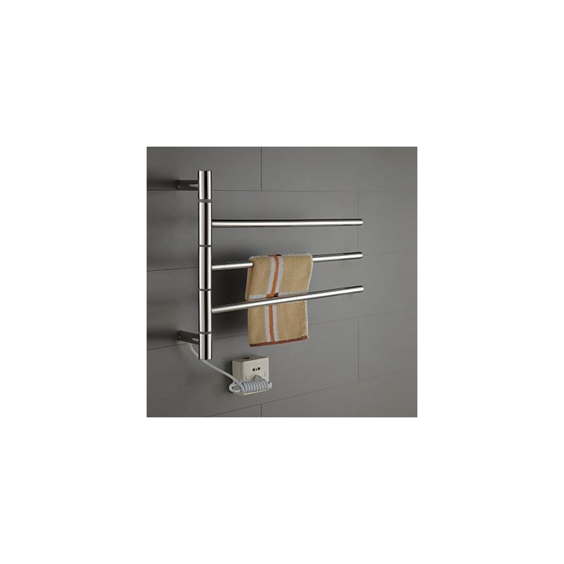 heated towel rack costco best warmer free standing bathroom swivel swing arm stainless steel circular tube drying conair home and reviews