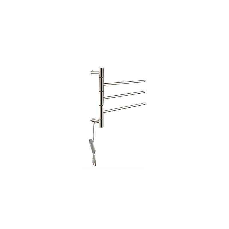 bathroom towel warmer swivel towel warmer 40w swing arm stainless steel circular tube drying - Towel Warmer Rack