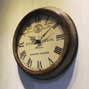 Vintage American Metal Round Mute Wall Clock
