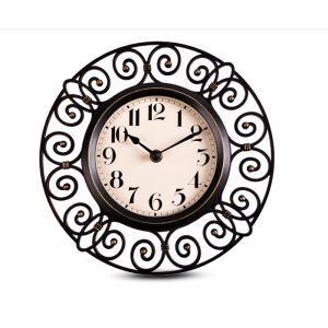 Vintage European Round Mute Wall Clock
