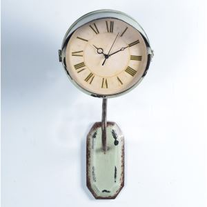 Vintage American Wrought Iron Antique Round Mute Wall Clock