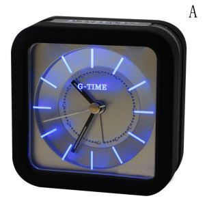 Creative Plastic LED Mute Non-ticking Table Clock