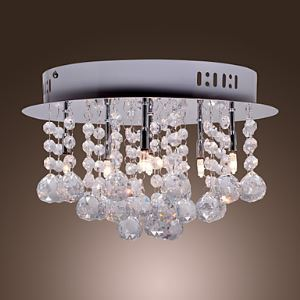 K9 Crystal Flush Mount with 6 lights