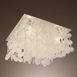 Crystal Flush Mount , Modern  Contemporary Living Room  Dining Room