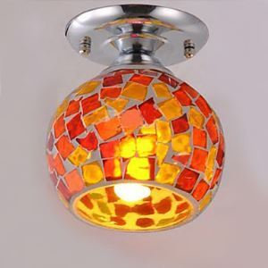 Flush Mount, 1 Light, Creative  Electroplating Glass