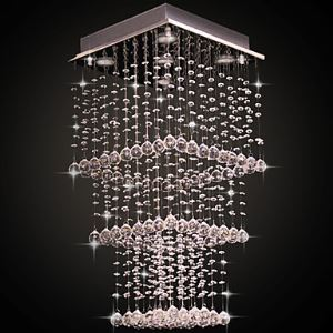 Crystal Flush Mount, 5 Light, Elegant Modern Stainless Steel Electroplating