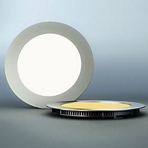 LED Panel Light, 60 Light, Modern Ultrathin Round Aluminum PC Casting