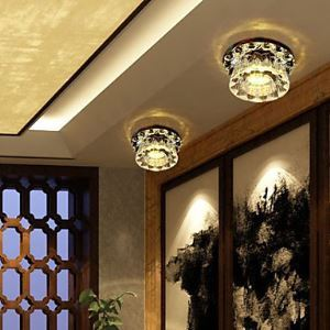 led crystal flush mount, 1 light, modern minimalist glass Energy Saving