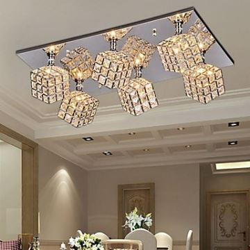 Image result for Square Ceiling Light with 6 lights in Crystal