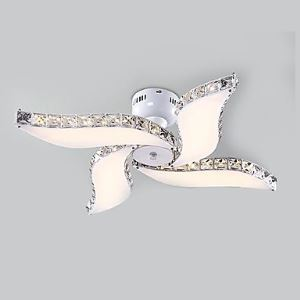 Crystal LED Flush Mount , Modern Contemporary Living Room Metal Energy Saving