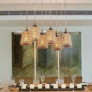 6-LightsModern Gold K9 Crystal Chandelier (110  220V)