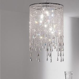 Crystal Pendant Lights , Modern  Contemporary Living Room Metal