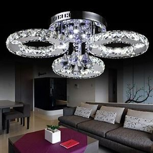 Crystal LED Flush Mount , Modern Contemporary Metal Energy Saving