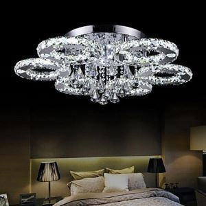 Crystal  LED Flush Mount , Modern  Contemporary Metal