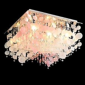 Crystal Flush Mount , Modern  Contemporary Living Room Metal