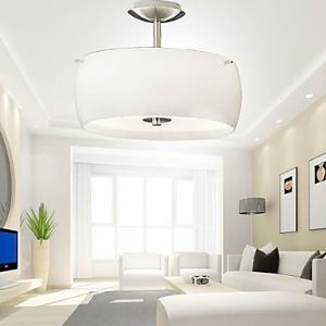 Flush Mount , Modern  Contemporary Living Room Metal