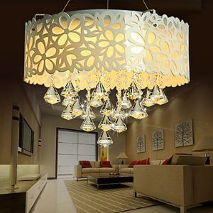 Flush Mount Crystal LED Modern Contemporary Living Room Bedroom Dining Room Study Room Office Metal Energy Saving